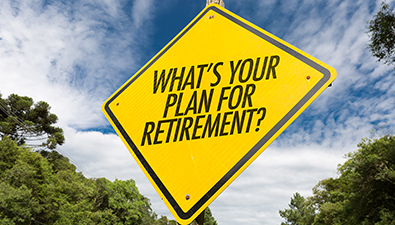sign that says whats your plan for retirement